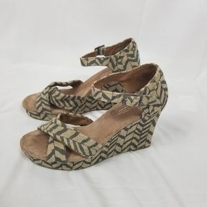 Toms Wedge High Heeled Sandals